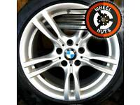 "18"" Genuine BMW M Sport 3 ser staggered alloys good cond good tyres."