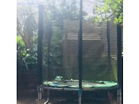 Trampoline (8 foot) (takes up to 60 kg weight) and net - free!