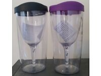 Camping wine glasses NEW*