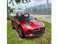 Only £160 NEW Licensed 12v Kids Jaguar F TYPE SVR kids ride on car with remote lights and music