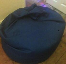 Blue high bak bean bag