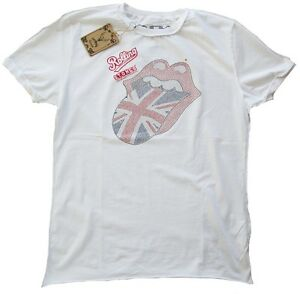 FANTASTICO-Amplified-Rolling-Stones-Uk-Union-Jack-Strass-LINGUACCIA-STAR-VINTAGE