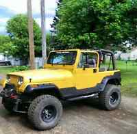 Lifted 95 yj Jeep