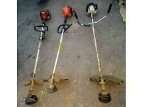 3 petrol strimmers