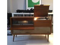 Rare 1964 Mid-Century Saba Radio & Record Vinyl Player Console