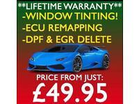 ** SAME DAY SERVICE ** CAR WINDOW TINTING \ ECU REMAPPING \ DPF & EGR DELETE