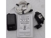 Rewired/Fully Working Singer Sewing Machine Foot Pedal with Motor & A copy B.U.K Manual