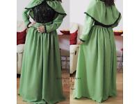 Green dress modesty clothing occasional party