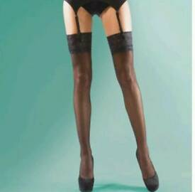 Silkys shine hold up stockings