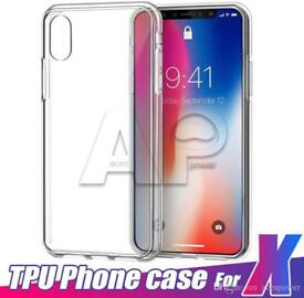 iPhone X clear silicone case