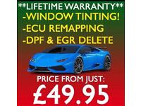** SPECIAL OFFER ** CAR WINDOW TINTING \ ECU REMAPPING \ DPF & EGR DELETE!