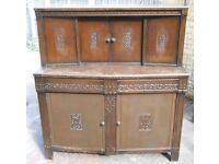 Original Gothic Style Dinning Room Drinks cupboard cabinet & Crockery cupboard unit