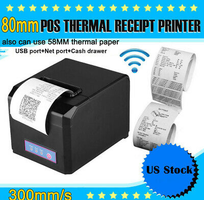 Hoin Pos Dot Receipt Paper Barcode Thermal Printer 80mm 58mm Usblan Us Plug