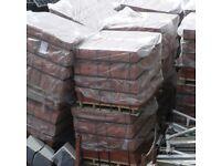 Full pallots of red facing brick
