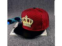 Metal crown cap hip hop cap street tide mesh