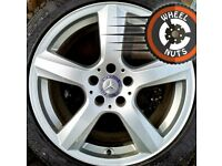 """18"""" Genuine Mercedes CLS alloys excellent cond good tyres."""