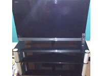 "Sony Bravia 40"" LCD TV + Glass Stand"