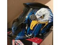 Blue eagle auto darkening welding helmet with grinding function brand new