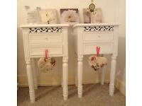 2 Bedside Drawers.Melody Maison.Shabby Chic.Bedroom