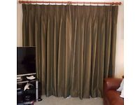 """JOHN LEWIS MADE-TO-MEASURE CURTAINS 92"""" WIDE x 83"""" DROP - 3 PAIRS £100 PER PAIR"""