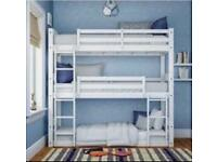 3 Tier Wooden Pine Heavy Duty Bunk Bed