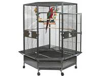 Large corner parrot cage