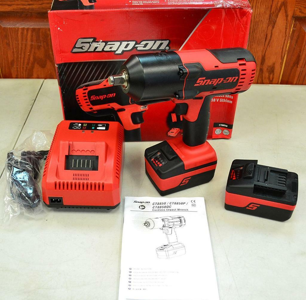 Used Snap on 1/2 inch battery gun with box and protective covers