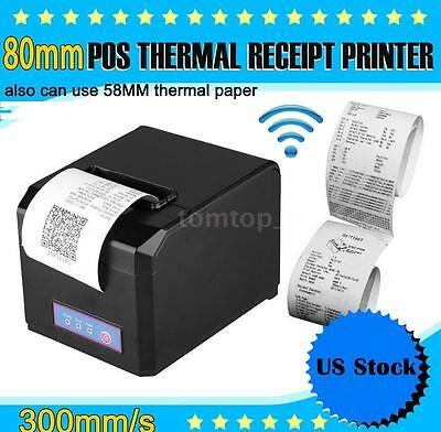 80mm 58mm Pos Dot Receipt Paper Barcode Thermal Printer Usb 300mms Us Stock