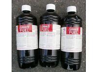 Coleman fuel, 1 litre bottles x3