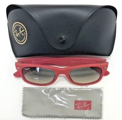 Ray Ban RB2132 810 32 Wayfarer Matte Pink Rubber Frame Sunglasses with Case