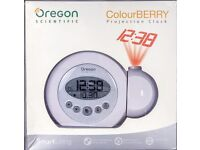 Oregon Scientific ColourBERRY Projection Clock in original packaging nearly new condition