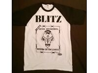 BLITZ NEVER SURRENDER T SHIRT SIZE S BRAND NEW SKINHEAD PUNK ROCK
