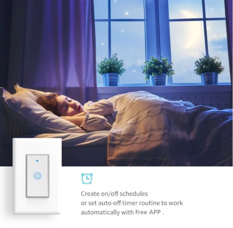 Nexete Smart Light Switch WiFi In-Wall Remote Alexa Google Smart