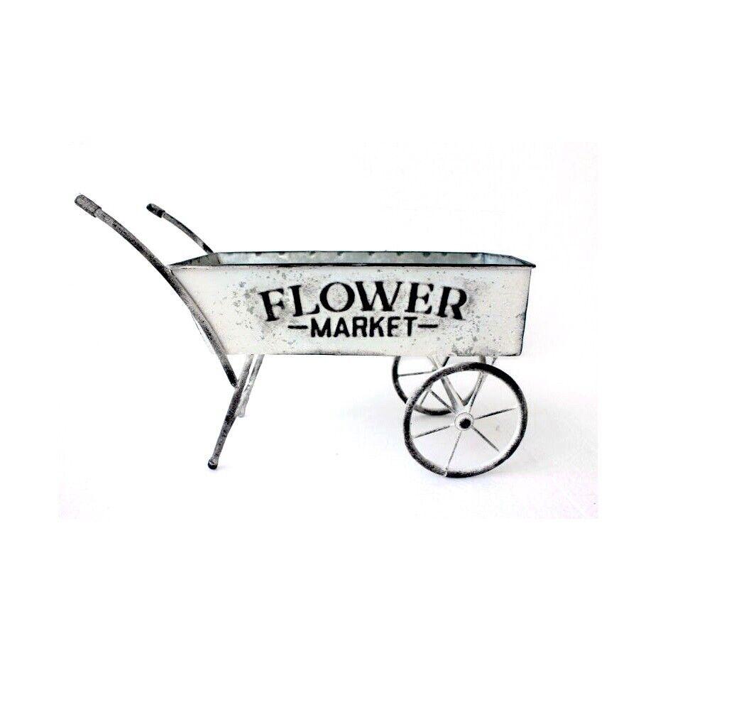 Vintage Shabby Chic Green Wheelbarrow Planter Handmade by AllChic