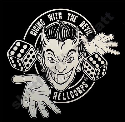 HELLCORPS® Dicing with the devil rockabilly fuzzy dices skull shirt rock n roll