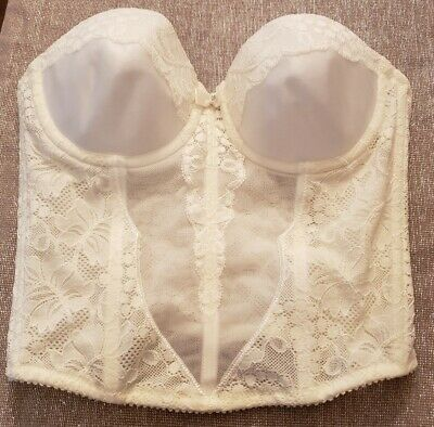 Molded Cup Bustier - Wacoal Ivory Strapless Bustier Molded Cups Bra XXS 28 A/B B70