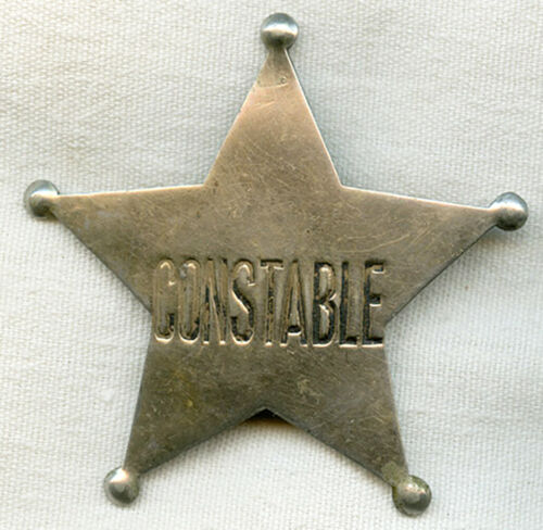 Circa 1910 Old West Constable 5 Point Star Badge