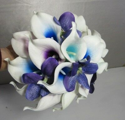 Calla Lily Orchid Bouquet (Peacock Orchid Calla Lily Bridal Wedding Bouquet &)