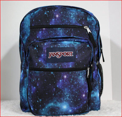 Jansport BIG STUDENT Backpack - 34L 2100c X-Large GALAXY BLUE Purple Black *NEW*