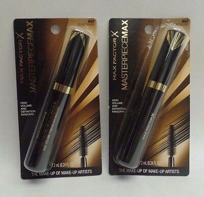 Max Factor Masterpiece Max Mascara 800 Velvet Black LOT OF TWO Exp 04/21