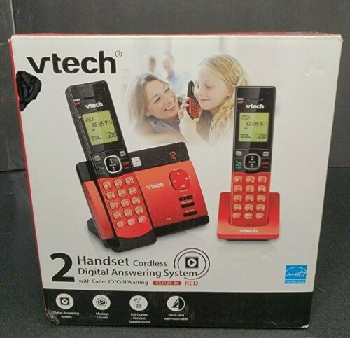VTech CS5129-26 2 Handset Cordless Phone with Digital Answering System - Red