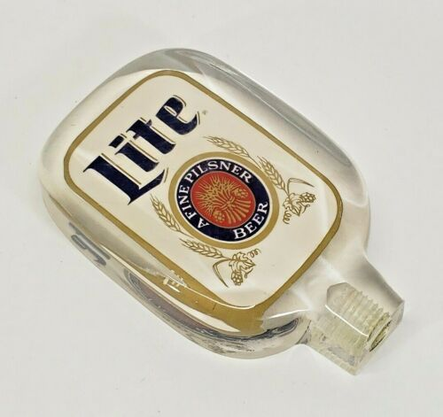Vintage Miller Lite Beer Acrylic Tap Handle Double Sided