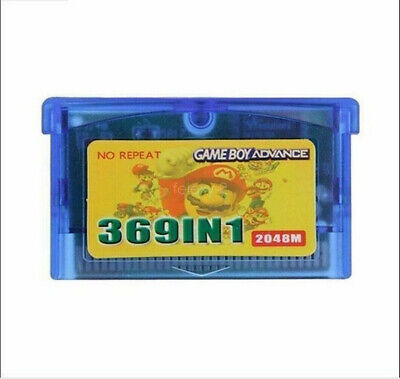 369 In 1 Cartridge Card Multicart for Game Boy Advance GBA SP...