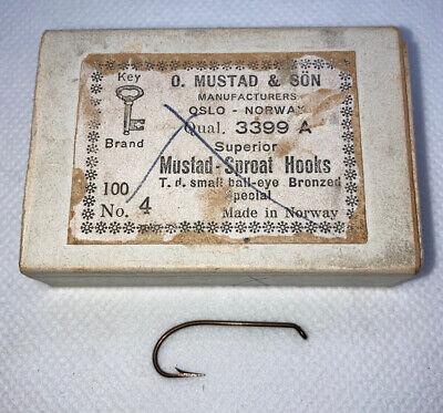 EYE  BRONZED 3911 100 MUSTAD HOOKS #6 Classic SALMON Fly Tying Sproat UP TAP