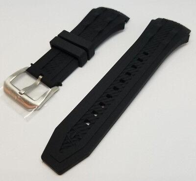 Invicta Reserve Bolt Black Polyurethane Rubber Strap Band Bracelet Invicta Rubber Bracelets