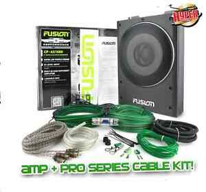 FUSION CP-AS1080 8 INCH ACTIVE 600W SLIM SUB+AMP+CABLE KIT! Mullaloo Joondalup Area Preview