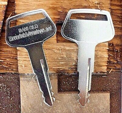 2 keys Sakai Roller & Heavy Equipment Key Old Style machines 2820-00002-0 for sale  Shipping to Nigeria