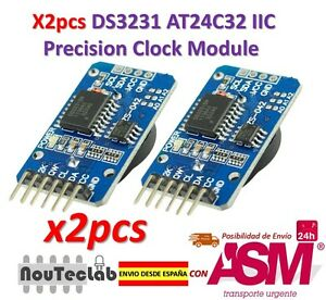 2pcs-DS3231-AT24C32-IIC-Module-Precision-Clock-Module-DS3231SN-for-Arduino