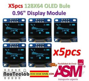 5pcs-OLED-Display-128X64-OLED-LCD-LED-Display-Module-I2C-IIC-SPI-Serial