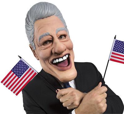 ener Lustig Ex President Politiker Kostüm Latex Maske (Herr Bill Kostüm)